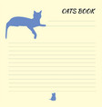 blank for records with cat sheet for records vector image vector image