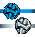 Bows blue and silver vector image