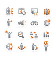 business opportunities icons - graphite series vector image vector image