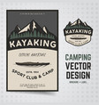 camping adventure travel brochure and vector image vector image