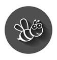 cartoon bee icon in flat style wasp insect on vector image