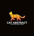 cat walking colorful design concept template vector image