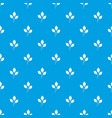 cherry leaves pattern seamless blue vector image vector image