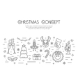 Christmas isolated concept with traditional vector image vector image