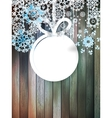 Christmas snowflakes on wood plus EPS10 vector image