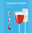 cocktail guide advertising poster gasses of wine vector image