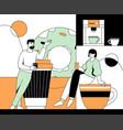 coffee break - modern flat design style vector image