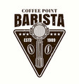 coffee point emblem logo with portafilter vector image vector image