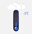 Cold thermometer vector image vector image