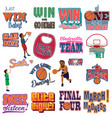 college basketball tournament icons cliparts vector image vector image