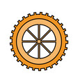 color sketch silhouette gear wheel component icon vector image vector image