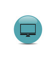 computer icon on blue button vector image