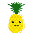 cute pineapple emoticon vector image