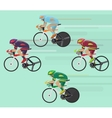 Cyclists man on road race bicycle racing concept vector image vector image