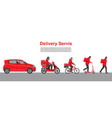 delivery service set delivery home and office to vector image vector image