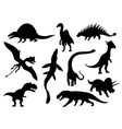 dinosaurs and dino monsters icons predators and vector image vector image