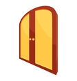 Double yellow door icon cartoon style