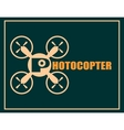 Drone quadrocopter icon Photocopter text vector image vector image