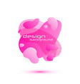 dynamic fluid design vector image vector image