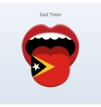East Timor language Abstract human tongue vector image vector image
