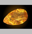 faceted fire opal vector image vector image