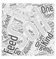 Feeding the Soil One Vital Aspect of Organic vector image vector image