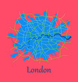 flat color map of london united kingdom city plan vector image vector image