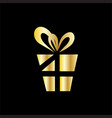 gold gift decoration symbol vector image