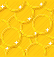 golden coin seamless pattern vector image