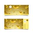 golden gift vocher template vector image