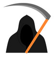 grim reaper on white background vector image