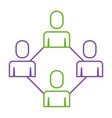 group people teamwork connection cooperation vector image vector image