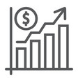 growth rate line icon finance and banking vector image