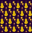 guitar maracas seamless pattern vector image vector image