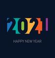 happy new year 2021 banner brochure or calendar vector image vector image