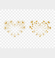 heart fireworks gold set isolated vector image vector image