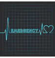 heartbeat make emergency word vector image vector image