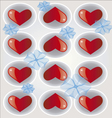 hearts background 2 vector image vector image