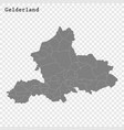high quality map is a province netherlands vector image