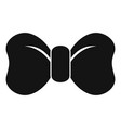 hipster bow tie icon simple style vector image