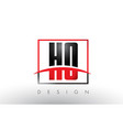 ho h o logo letters with red and black colors vector image vector image