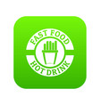 hot drink icon green vector image