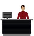 Hotel reception desk vector image vector image