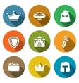 Kingdom Icons Set vector image vector image