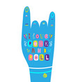 lettering children poster i love rock and roll vector image vector image