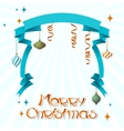 Merry Christmas background in retro style vector image vector image