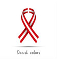 modern colored ribbon with the danish colors vector image vector image