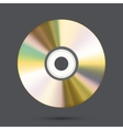 modern disc on gray background vector image vector image