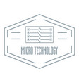 modern micro technology logo simple gray style vector image vector image