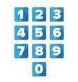 Number set blue - flat design vector image